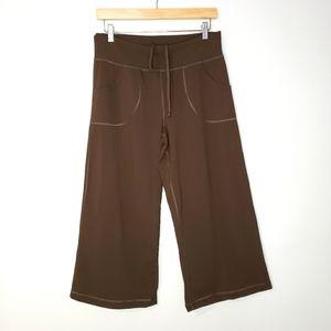 Lululemon Brown Wide Leg Yoga Crop Pant Ca…